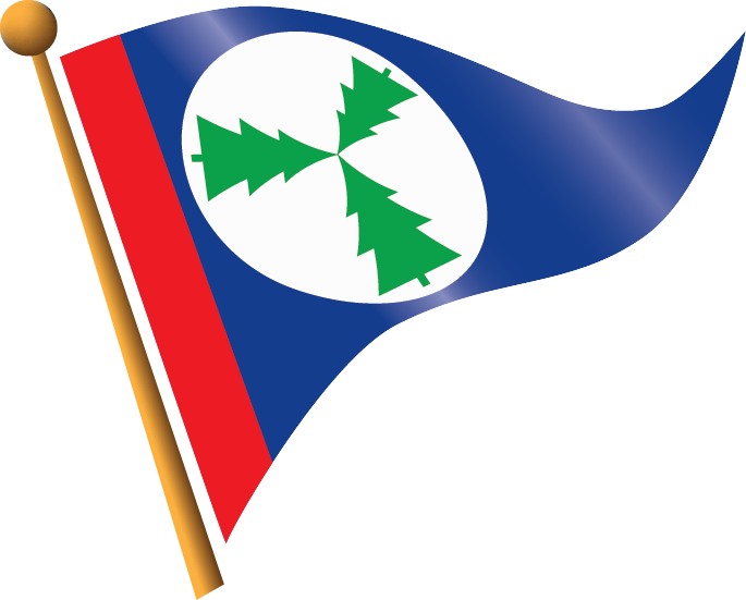 Burgee Three Tree Point Yacht Club - Des Moines, USA