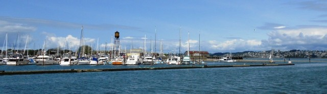 Semiahmoo marina from outside the breakwater
