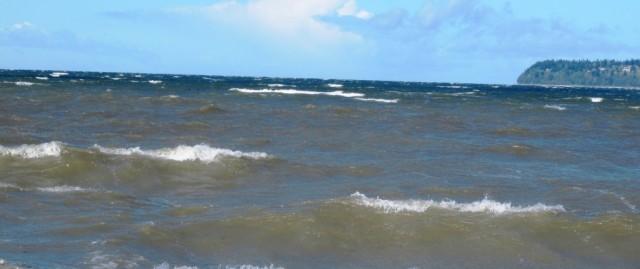 windy day on Georgia Strait