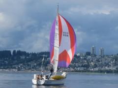 sailing off Whiterock BC