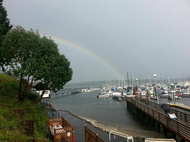 Rainbow over BAD